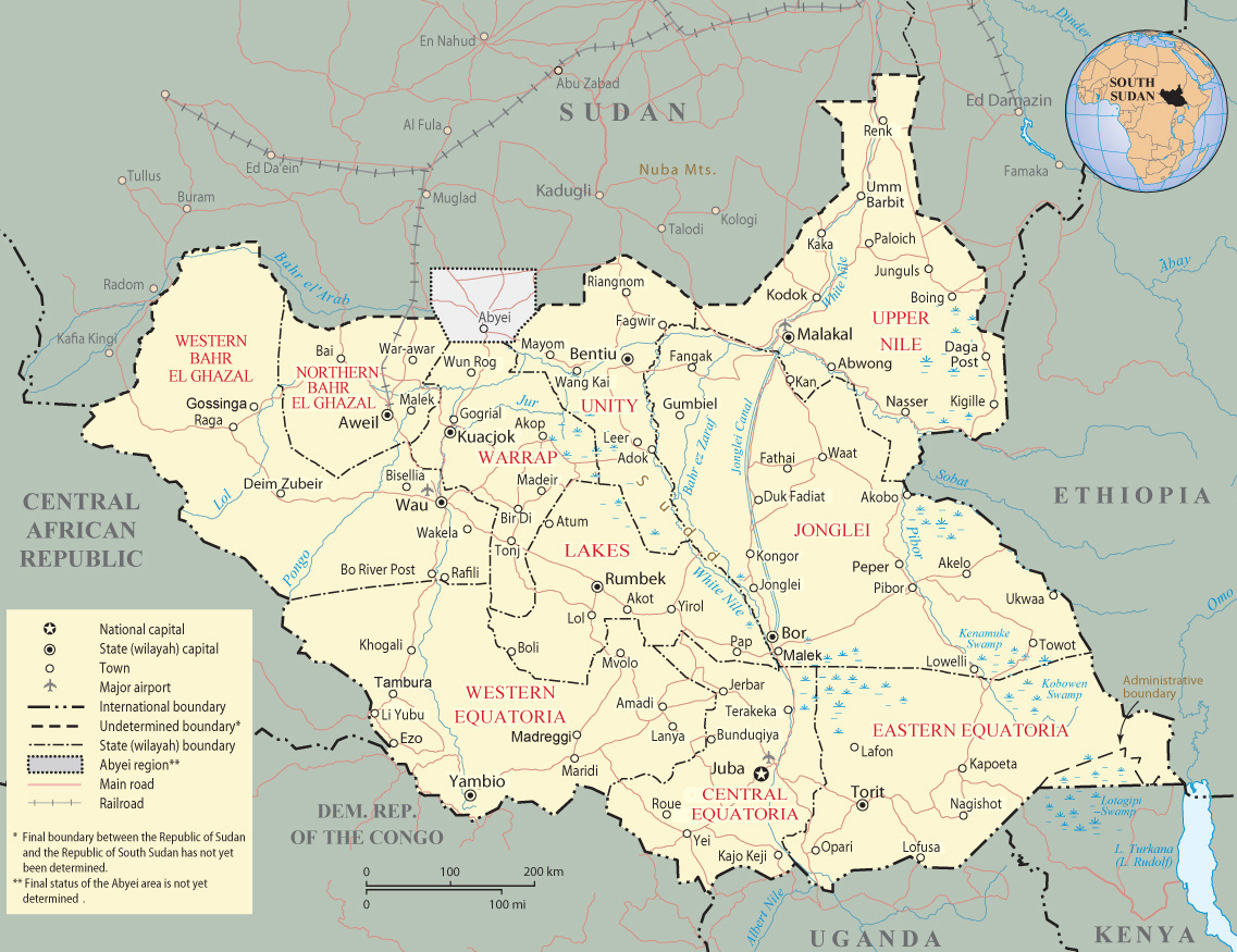 Map south-sudan